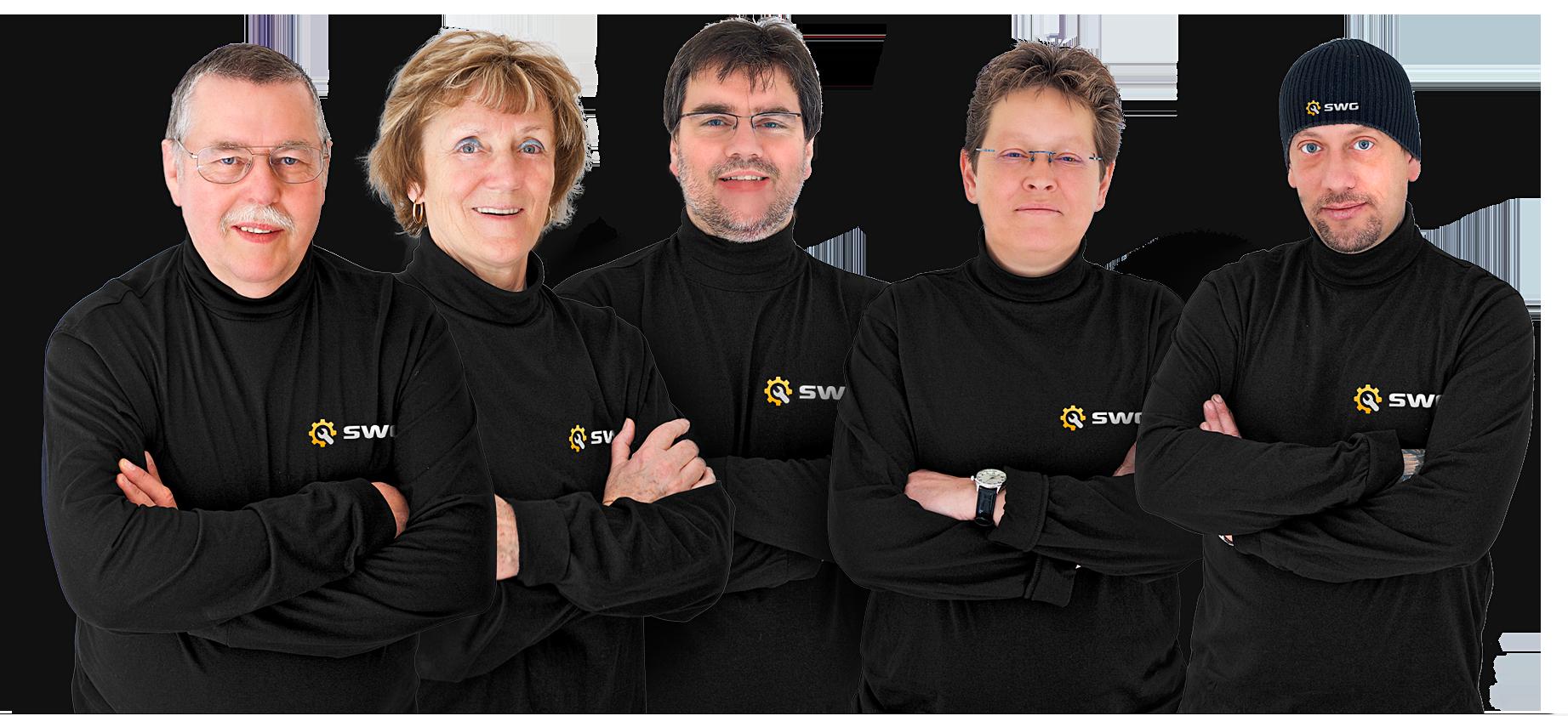 Servicewerkstatt für Gleisbaukleinmaschinen Teamfoto